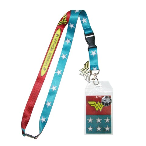 BioWorld Wonder Woman Lanyard and ID Holder - One size