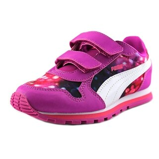 Puma St Runner NL Lights V Ps Youth Round Toe Synthetic Pink Tennis Shoe