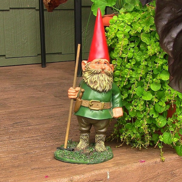 Sunnydaze Woody Jr the Gnome - Small Lawn and Garden Decor - 13.5-Inch - Woody Jr. 13.5 Inch