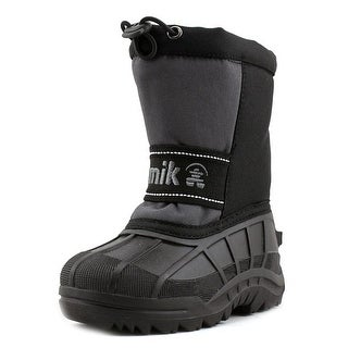 Kamik Leaps Toddler  Round Toe Synthetic Black Snow Boot