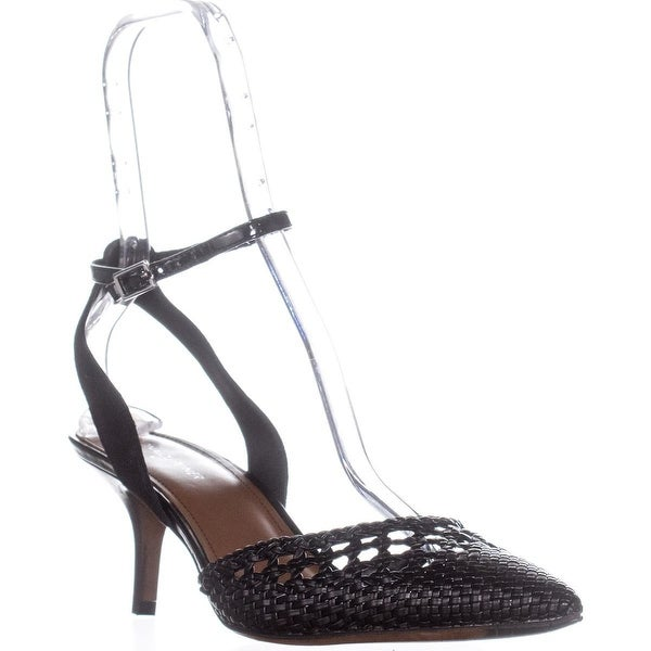 Donald J Pliner Fresia Buckle Dress Pump, Black/Black - 11 us