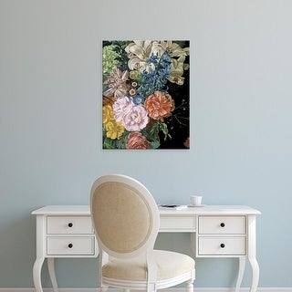 Easy Art Prints Melissa Wang's 'Baroque Floral II' Premium Canvas Art