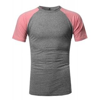 NE PEOPLE Mens U Neck Short Sleeve T-Shirts (6 Colors) NEMT88