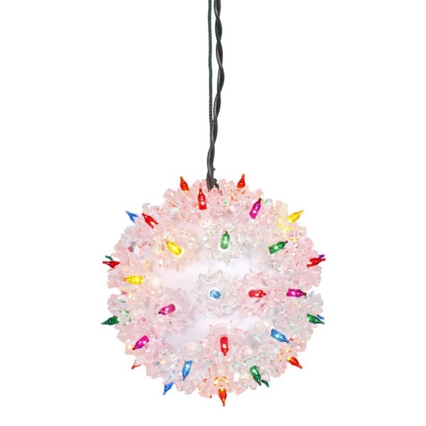 "6"" Multi-Color Pre-Lit Starlight Hanging Sphere Christmas Ball Decoration - multi"