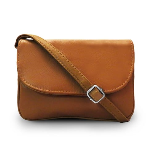 Leather Multi Pockets Cross Bosy Bag