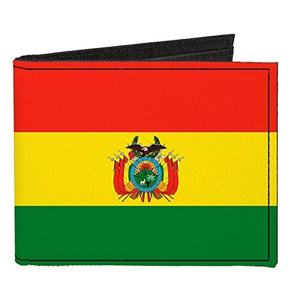 Buckle-Down Canvas Bi-fold Wallet - Bolivia Flag Accessory