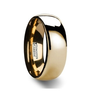 Thorsten Traditional Domed Gold Plated Tungsten Carbide Wedding Ring - 8mm ORO