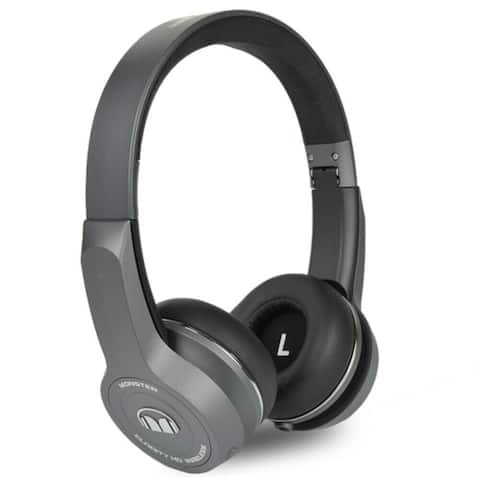 Monster ClarityHD Bluetooth Wireless Foldable On-Ear Headphones (Gray)