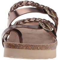 Sugar Womens xtra Open Toe Casual Platform Sandals - bronze/metallic - 9.5