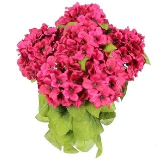 Admired by Nature GPB730-MAGENTA Artificial Full Blooming Stain Hydrangea Magenta