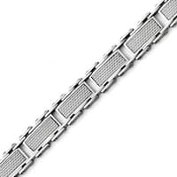 Chisel Stainless Steel Grey Carbon Fiber Inlay Polished Bracelet