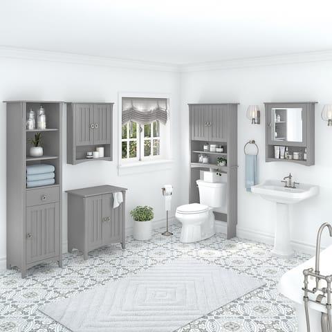 Salinas Farmhouse Bathroom Storage Set by Bush Furniture