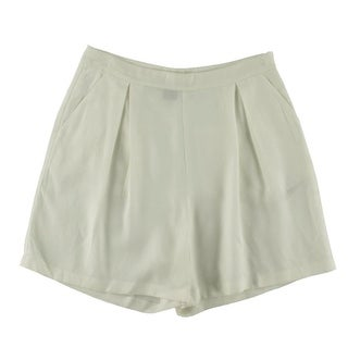 French Connection Womens Herringbone Pleated Casual Shorts - 8
