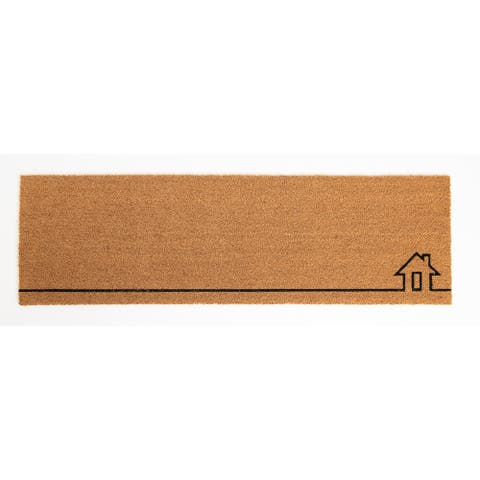 Home View Doormat Natural Rubber, Non-Slip, Durable