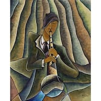''Blues'' by Nathaniel Barnes African American Art Print (29.75 x 24 in.)
