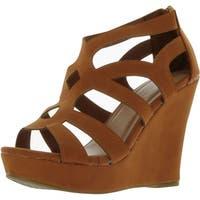 Top Moda Womens Ella-15 Fashion Wedge Sandals