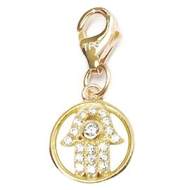 Julieta Jewelry Hamsa Hand Halo CZ Clip-On Charm
