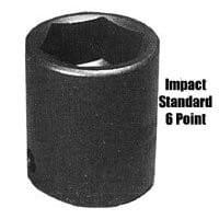 Sunex SUN566 1 Inch Drive Standard 6 Point Impact Socket - 2-1/16 Inch