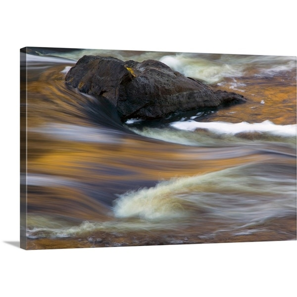 """Water rushing over rocks, close up, Saint Louis River, Minnesota"" Canvas Wall Art"