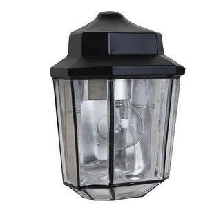 Costaluz 3028 1 Light Incandescent Outdoor Wall Sconce with Clear Glass Shade
