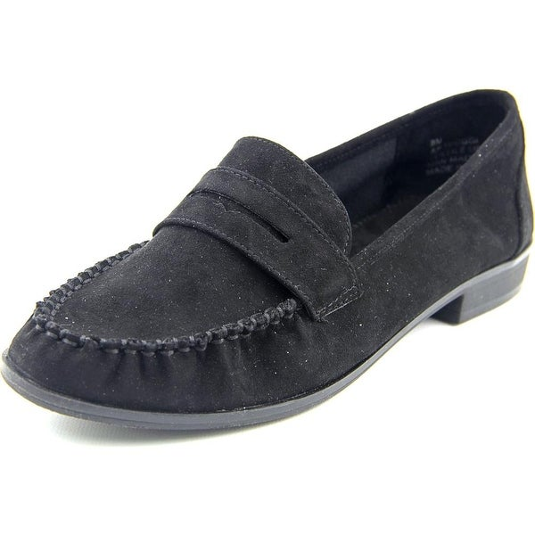 American Rag Peggi Women Moc Toe Canvas Black Loafer