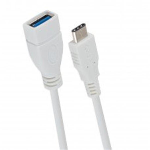 8 in. USB 3.1 Type C Male to USB 3.0 Type A Female OTG Short Cable