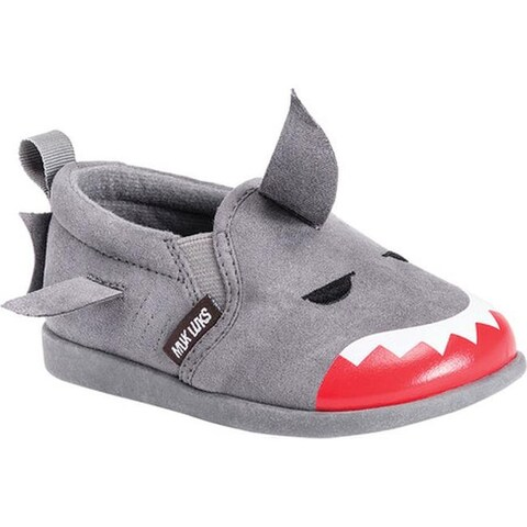 MUK LUKS Children's Finn the Shark Shoe Grey Polyester
