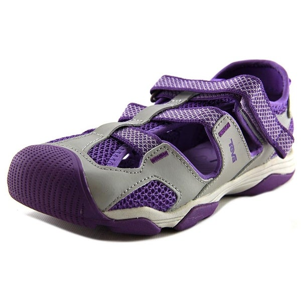 Teva Jansen Youth Round Toe Leather Purple Sport Sandal
