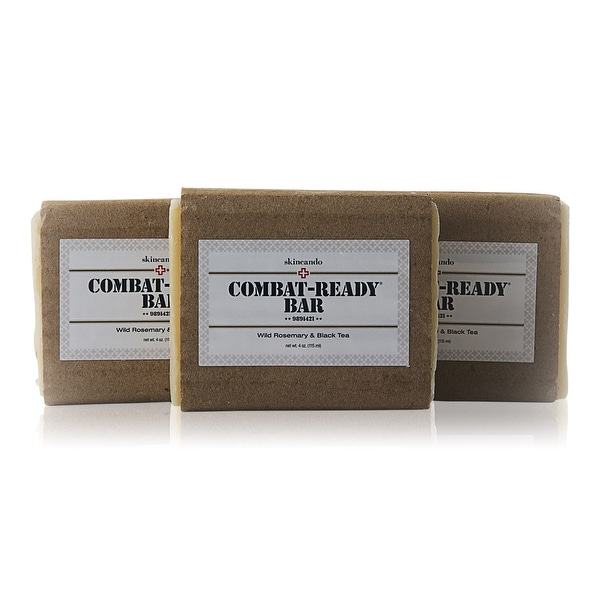 Combat Ready Organic Soap by Skincando - 4Oz - 3 Pack