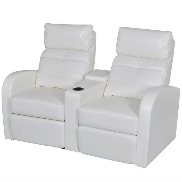 Shop Vidaxl Artificial Leather Home Cinema Recliner Reclining Sofa 2