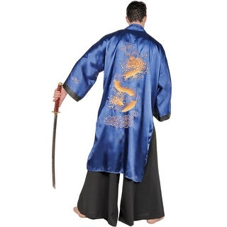 Underwraps Samurai Warrior Male Plus Size Costume (Blue) - Solid - 2X-Large