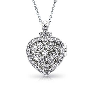 Vintage Style Filigree Flower Heart Shape Aromatherapy Essential Oil Perfume Diffuser Locket Pendant Necklace For Women