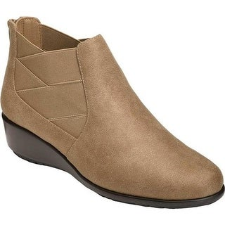 A2 by Aerosoles Women's Above All Ankle Boot Taupe Faux Leather/Elastic