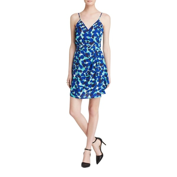 Aqua Womens Casual Dress Chiffon Printed
