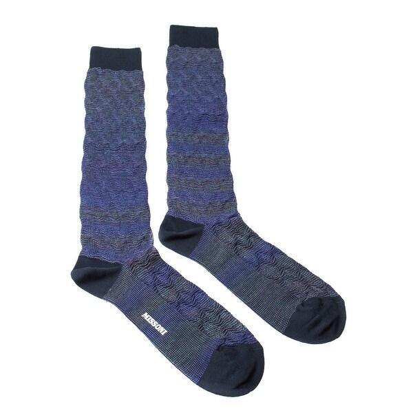 Missoni GM00WMU5248 0003 Purple/Blue Knee Length Socks - M