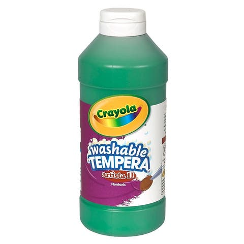 Artista II® Washable Liquid Tempera Paint, Green, 16 oz. Bottles, Pack of 6 - Green - 16 oz.