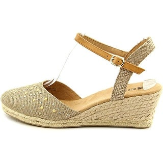 White Mountain Womens Saltwater Fabric Closed Toe Casual Espadrille Sandals