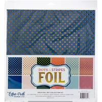 "Gold Foil Dot - Echo Park Double-Sided Collection Pack 12""X12"" 6/Pkg"