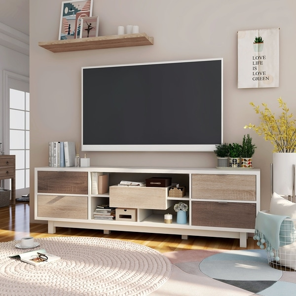 Furniture of America Yave 70-inch Multi-functional Storage TV Console. Opens flyout.