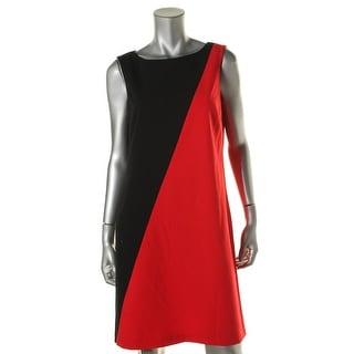 Nine West Womens Colorblock Sleeveless Wear to Work Dress - 8