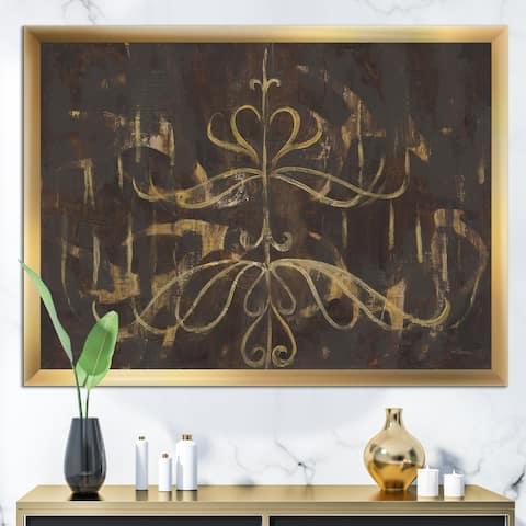 Designart 'Glam Gold Chandelier' Modern Glam Framed Art Print
