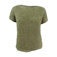 Lauren Ralph Lauren Women's Darbye Tape Crochet Sweater - l