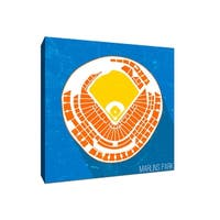 Marlins Park Seating Map - MLB Seating Map - 9x9 Gallery Wrapped Canvas