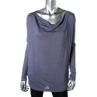 Three Dots Womens Pullover Top Knit Cowl Neck - s