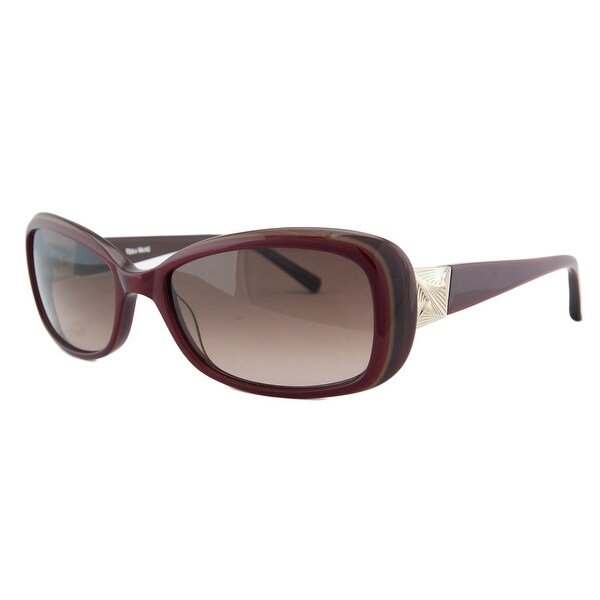 Vera Wang V277 CRIMSON Red Rectangular Sunglasses - 55-17-135