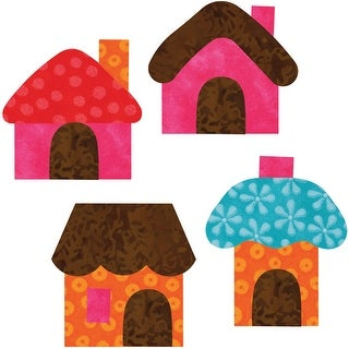 """GO! This & That Fabric Cutting Dies-Small Houses 2-1/2""""X3""""By - small houses 2-1/2""""x3""""by reiko kato"""