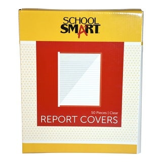 School Smart Report Cover, 25 Sheets, 8-1/2 X 11 in, Clear, Pack of 50
