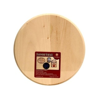 Walnut Hollow Plaque Basswood Circle 8x8""