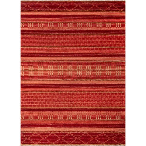 """Momeni Heirlooms Barjasteh Hand Knotted Wool Red Area Rug - 4'1"""" X 6'2"""""""