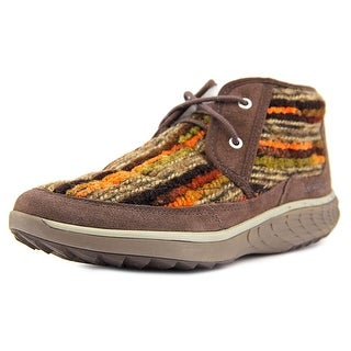 Merrell Pechora Mid Women Round Toe Canvas Brown Chukka Boot